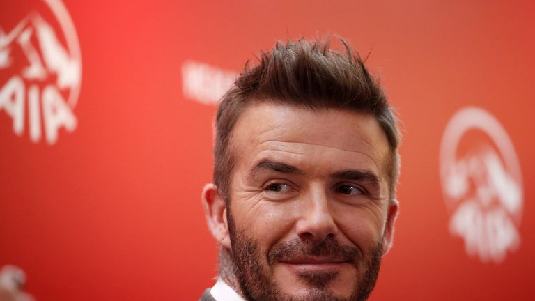 Motor enthusiast David Beckham has a substantial fleet of cars in the UK and LA
