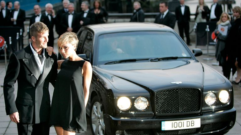 The Beckhams have owned several Bentleys over the years, including this one in 2007