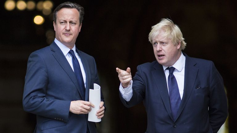 David Cameron called Boris Johnson his star player