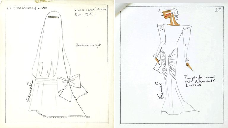Designs for Diana, Princess of Wales