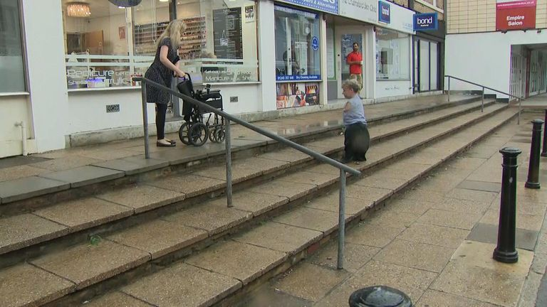 People with disabilities can struggle with access to some shops