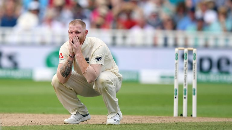 Ben Stokes playing for England against India in the first Test