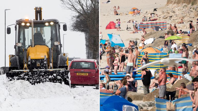 The UK has experienced the Beast from the East and scorching temperatures this year