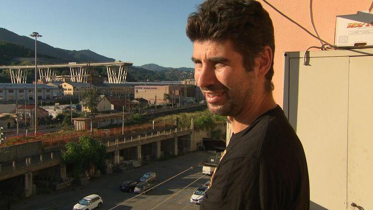 'When I passed the bridge, at all times, I had fear,' says Fabio Presti