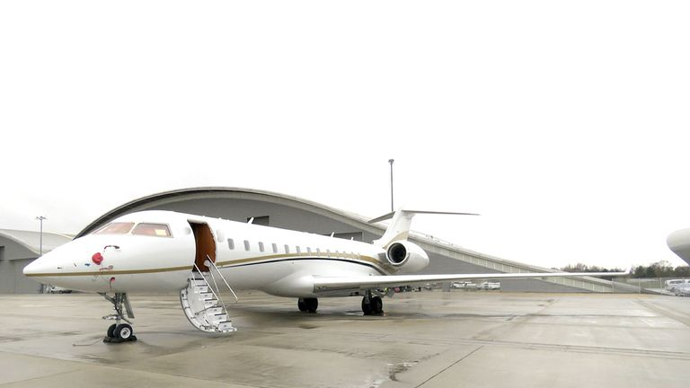 The twin-engined private jet that the group used to bring cocaine from Colombia into the UK
