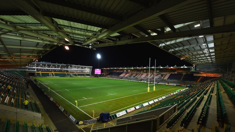 NORTHAMPTON, ENGLAND - JANUARY 29: A general view of the stadium before the Aviva Premiership match between Northampton Saints and Wasps at Franklin's Gardens on January 29, 2016 in Northampton, England. (Photo by Shaun Botterill/Getty Images)