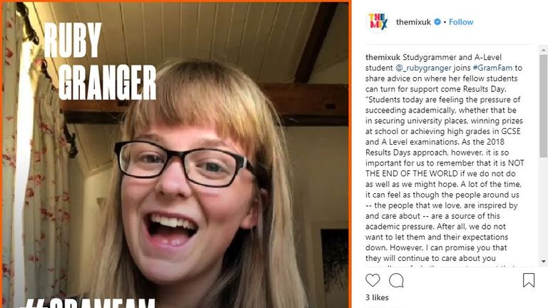 Ruby Granger is known for her vlogs about exam technique and revising