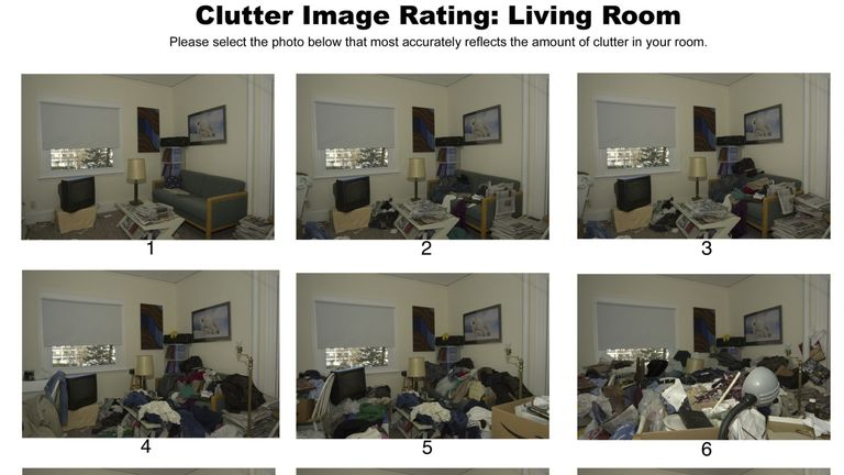Clutter image rating from Hoarding UK