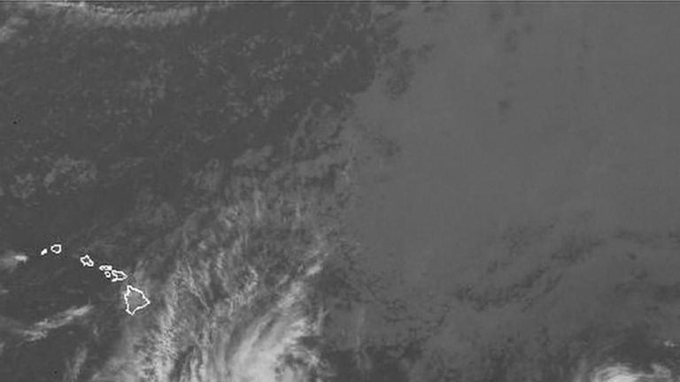 Hurricane Hector moving across the Pacific, possibly towards Hawaii