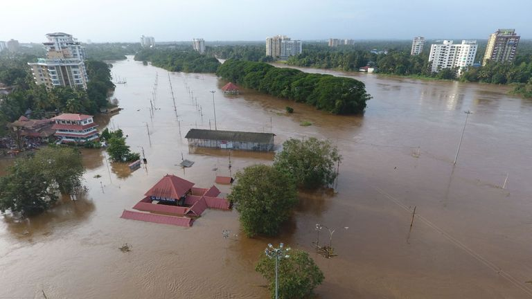 The Shiva Temple in Kochi was submerged when water was released from a dam last week