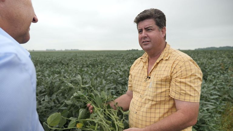 Soybean farmer Dave Walton has been hit hard by America's trade war with China