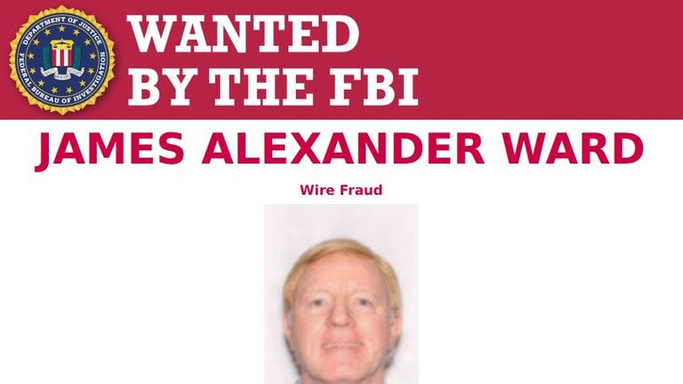 James Alexander Ward has been put on the FBI's 'most wanted' list