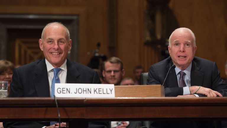 McCain supports General John Kelly's nomination for homeland security