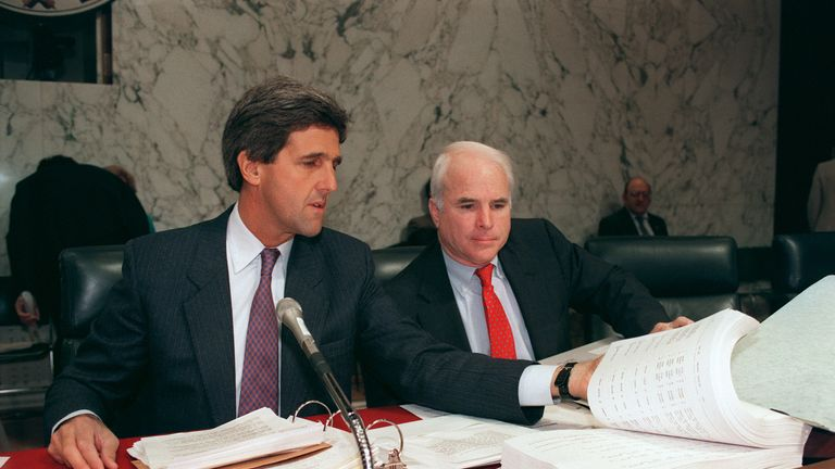 McCain and fellow Vietnam veteran John Kerry worked on repatriating those missing in action