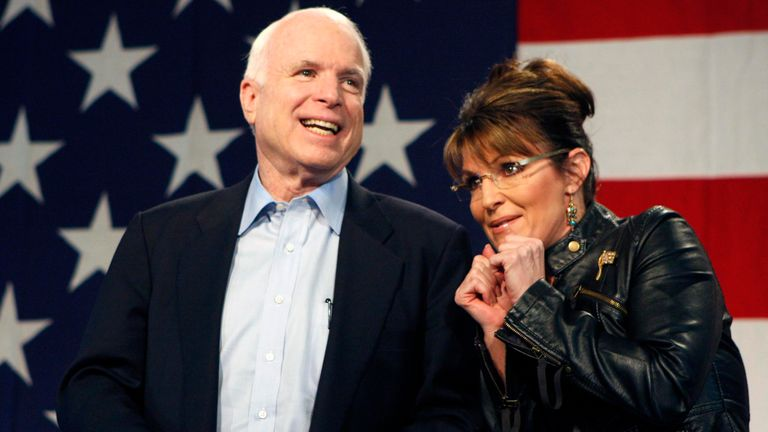 McCain's 2008 running mate was Sarah Palin