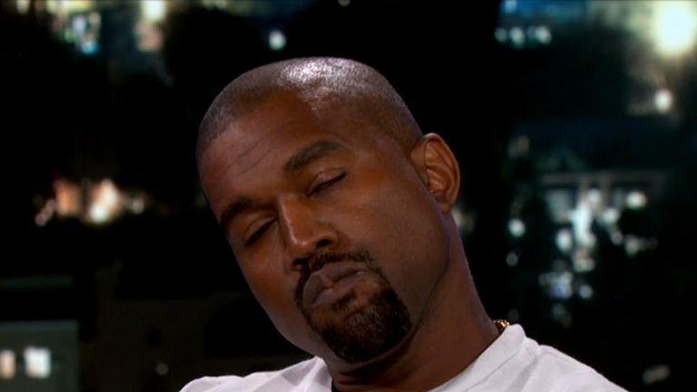 Kanye West on Jimmy Kimmel Live! Pic: ABC