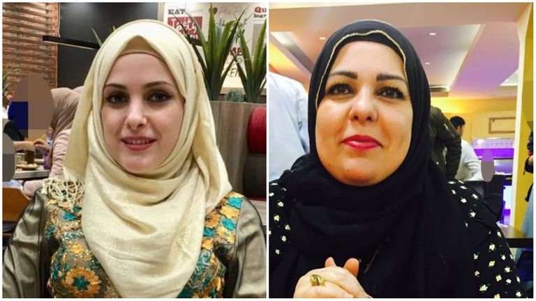 Raneem Oudeh (left) and Rhaola Saleem (right), who were kille din a double murder in Solihull
