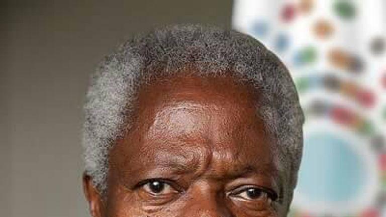 Kofi Annan's death was announced by the UN