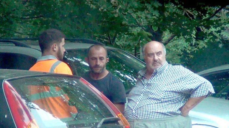 Undated handout photo issued by National Crime Agency of Leonard Powell (right) meeting with Albanian gang members Sabah Dulaj and Artur Nutaj (centre) in the car park of the Lion public house. PRESS ASSOCIATION Photo. Issue date: Tuesday August 7, 2018. The bungling people-smugglers behind a hare-brained scheme to bring migrants across the English Channel on jet skis are facing jail after they were found guilty of conspiring to breach immigration law. See PA story COURTS Jetski. Photo credit sh