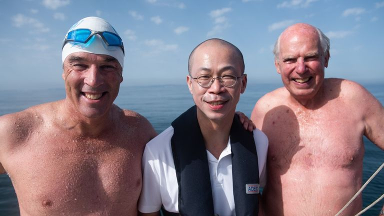 Cheong-Ann Png, who swam with Lewis 20 years ago, also came along