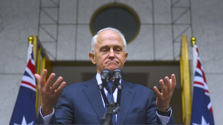 Malcolm Turnbull said he will quit as prime minister on Friday if a leadership vote is held