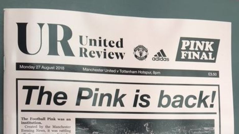 sports shoes 8c186 e3f8c Manchester United unveil pink away kit as tribute to city's ...