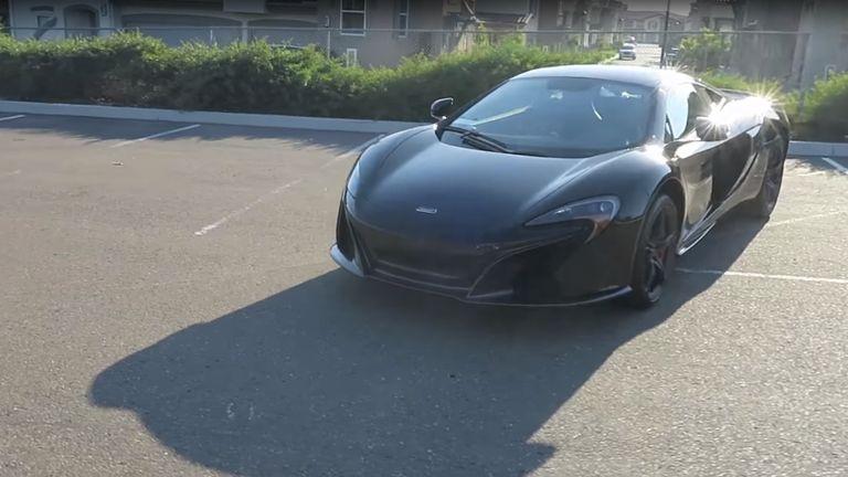 McSkillet's McLaren sportscar, as seen on YouTube