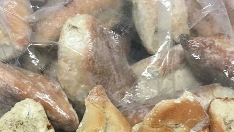 Police found more than a dozen bread rolls filled with cocaine