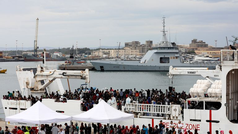150 migrants have spent nine days docked off the coast of Sicily