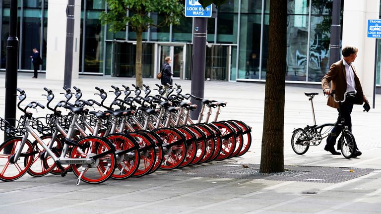 Mobikes cost as little as 50p for half-an-hour when they first arrived in Manchester