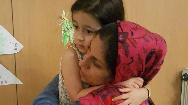 Nazanin-Zaghari Ratcliffe made a last-ditch appeal to spend more time with her daughter. Pic: @FreeNazanin