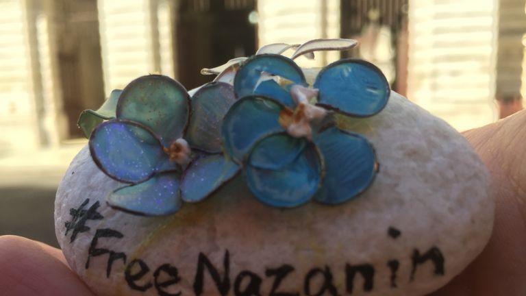 A stone given to Jeremy Hunt by jailed Iranian mother Nazanin Zaghari-Ratcliffe