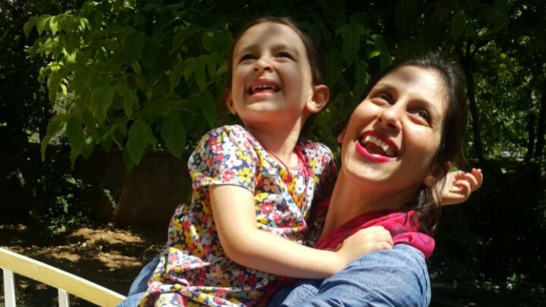 Ms Zaghari-Ratcliffe is pictured with daughter Gabriella