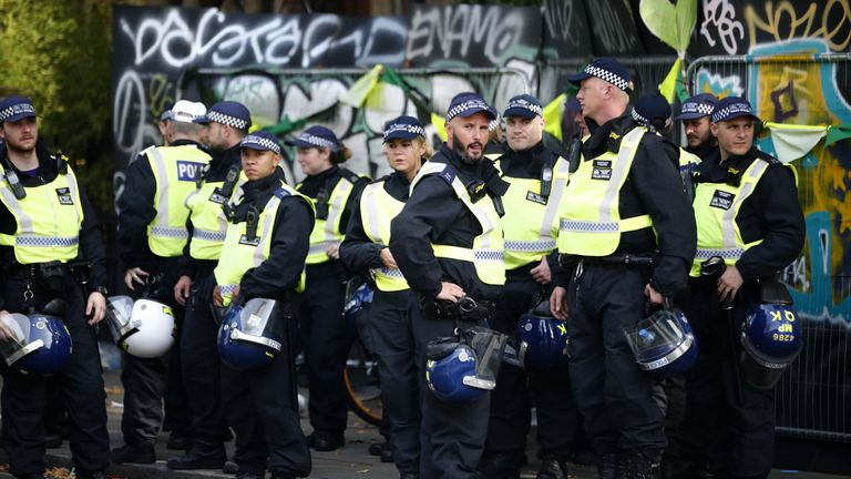 About 13,000 officers are to police the two-day event. File pic