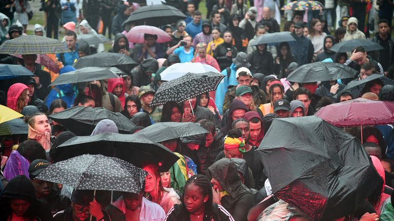 Silence for Grenfell victims at Notting Hill Carnival