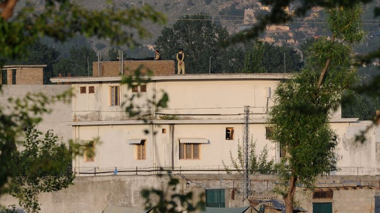 Osama bin Laden's compound in Abbottabad, Pakistan, where he was captured