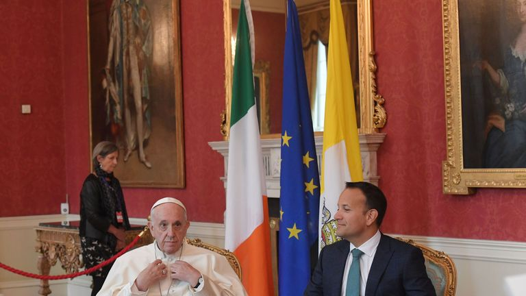 The Pope and Leo Varadkar both gave speeches at Dublin Castle