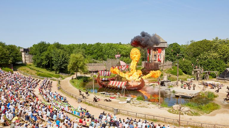 The park has several different historical areas. Pic: Puy du Fou