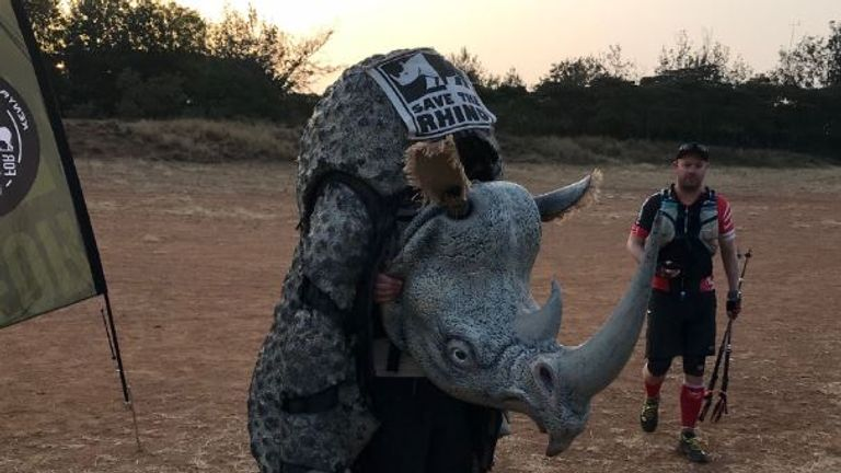 The costume used in the Save the Rhino campaign