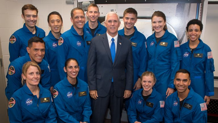Robb Kulin (top left) poses with US Vice President Mike Pence