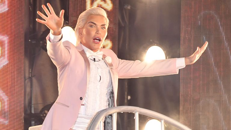 Rodrigo Alves entering the Celebrity Big Brother house on 16 August