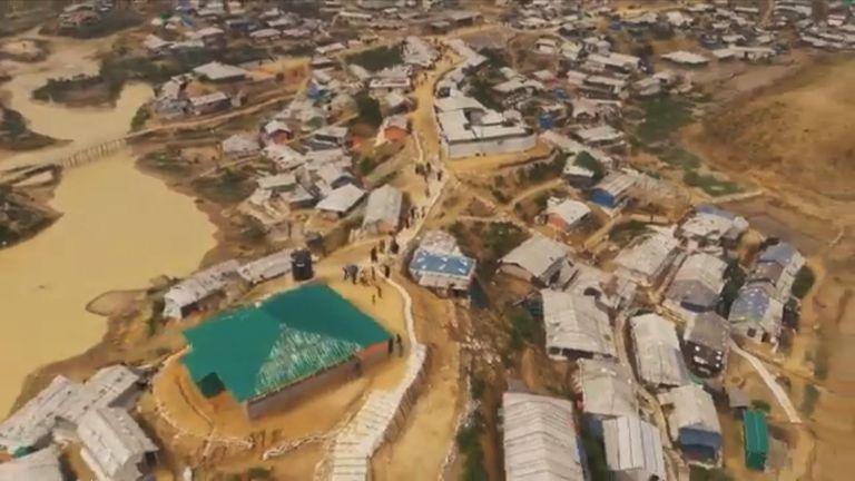 Rohingya refugee camp in Cox's Bazar