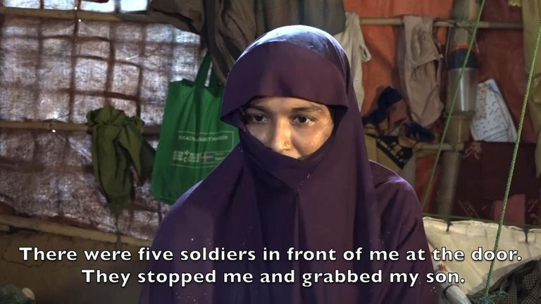 Shafika was rescued by her husband after she was raped by soldiers