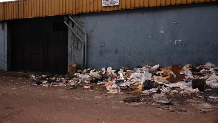 Rubbish is piling up in the streets as the binmen strike