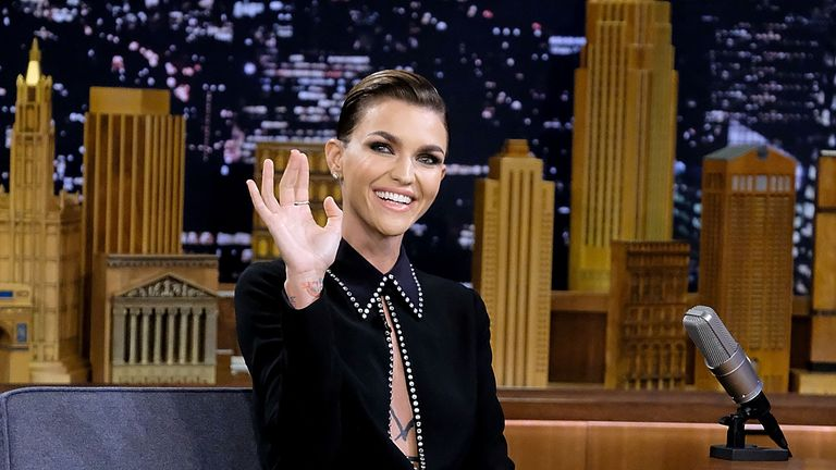 Ruby Rose Visits on 'The Tonight Show Starring Jimmy Fallon' on 8 August
