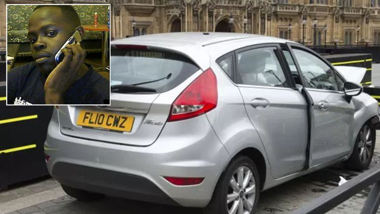 Salih Khater and the car he used to attack Westminster
