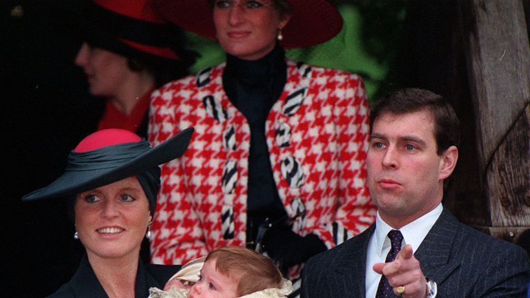 The Duchess of York's ruby and diamond engagement ring is similar to Eugenie's
