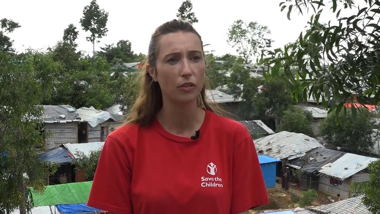 Daphnee Cook, from Save the Children, said: 'Kids are highly vulnerable to landslides and getting lost'.
