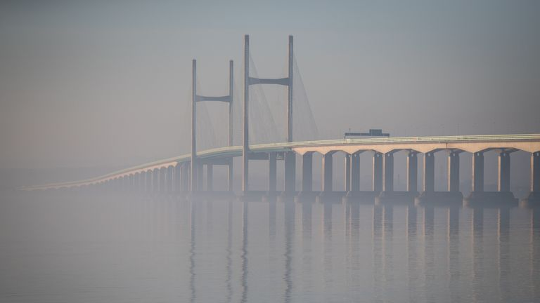 The Severn Bridge remained closed for all of Saturday morning