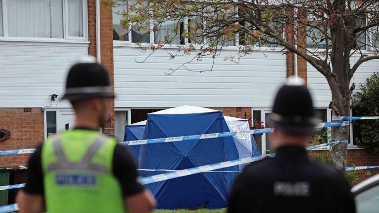 The women were found in Northdown Road, Solihull, in the West Midlands